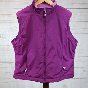 LL Bean Fleece Lined Zip Up Vest